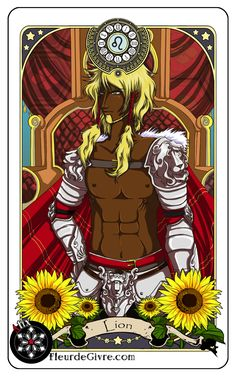 Astrology deck card: Leo by *OoAlixoO on deviantART