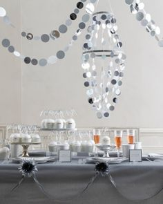 Glamorous Sterling Silver Party Decor