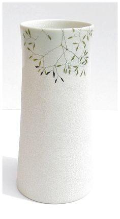 porcelain vase by karin eriksson, via Flickr #CeramicPottery click now for info.