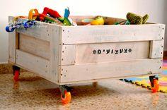 ארגז צעצועים ממוחזר ממשטח עץ - פורום נגרות ואומנויות בעץ