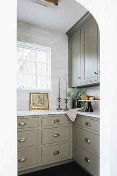 Kitchen Redo, New Kitchen, Kitchen Remodel, Kitchen Design, Kitchen Pantry, Nancy Kitchen, Kitchen Ideas, Pantry Design, Green Kitchen