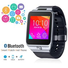 Indigi 2-in-1 Interconvertible GSM + Bluetooth Smart Watch & Phone w/ Camera ~UNLOCKED! (Silver). GSM Unlocked phone that can be used from anywhere across the world. works with any gsm wireless carries in the world such as at&t, t-mobile, straightalk, Orange, Vodafone, you name it. You can stick in your GSM micro SIM-card and you can gain instant access to an amazing communication device that works like a cell phone on your wrist. Connect to your smartphone via Bluetooth and bring all the...