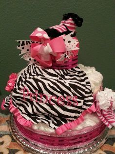 Diaper cake for my granddaughter.