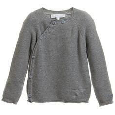 BELLY BUTTON Unisex Baby Grey Organic Cotton Cardigan