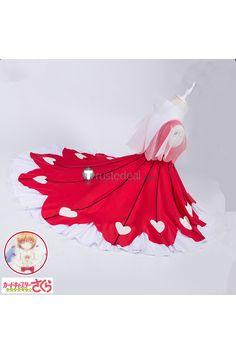 Cardcaptor Sakura Clear Card OP 2 Sakura Kinomoto Red Dress Cosplay Costume