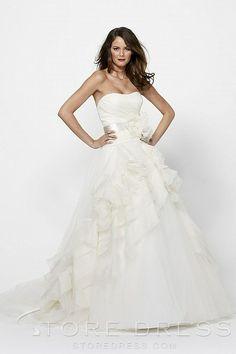 Glamorous A-line Chapel Beading Sequins Wedding Dress 2014 at Storedress.com