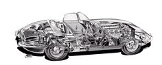 Sketchbook historic cars Pictures: JAGUAR E Type - Raggi X !