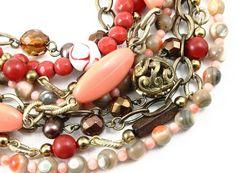 Vintage Multi Strand Beaded Bracelet  Multi by myboutiquebijou, $95.00