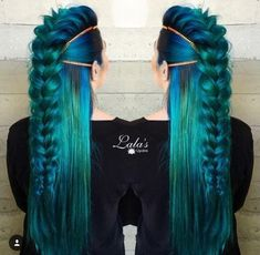 71 ideas for green hair dyes that you will love - hair - Hair Styles New Braided Hairstyles, Pretty Hairstyles, Braided Updo, Latest Hairstyles, Updo Hairstyle, Hairstyle Ideas, Fairy Hairstyles, Fantasy Hairstyles, Viking Hairstyles