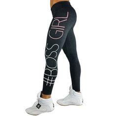 Black Boss Girl Sports Leggings