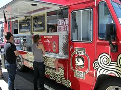food truck design, like fire truck! Love this idea