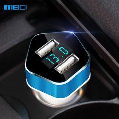 MEIDI Car Charger Dual USB Port Smart LED Voltage Display Car Cigarette Lighter Mobile Phone Universal USB Car Charger ** Haciendo click sobre la imagen te llevará a encontrar productos similares