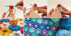 DIY-6-Petal-Crochet-Flower-Baby-Blanket