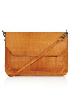 $80, Tan Leather Crossbody Bag: Textured Leather Crossbody Bag by Topshop. Sold by Nordstrom. Click for more info: http://lookastic.com/women/shop_items/60008/redirect