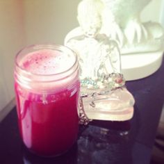 Beet juice with cellery, apple and lime! www.becookstoo.com - Great refreshing juice!  Here's what I juiced: 1 large beet, 1 apple, 3 celery stalks, 1 lime. Enjoy!