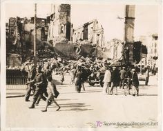 FOTOGRAFIA ORIGINAL GUERRA CIVIL MALAGA TOMADA POR LOS REBELDES. SELLO 26/2/1937