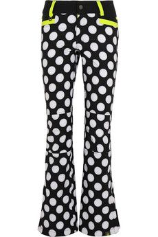 House of Holland + Roxy polka-dot Dry Flight shell ski pants | NET-A-PORTER