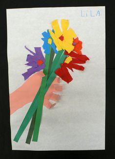 torn paper flowers + kindergarten - Google Search