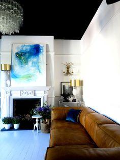 white room/black ceiling  47 Park Avenue.
