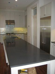 Charming Gray Quartz Countertop | Here Is A Nice Grey Quartz Countertop.