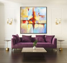 Modern Eclectic Farmhouse With Delightful Design Features In Michigan 18 - homemisuwur Large Canvas Art, Abstract Canvas Art, Large Art, Abstract Paintings, Office Canvas Art, Wall Art Decor, Wall Art Prints, Wall Art Pictures, Texture Painting