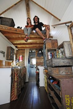 Jenna Spesard and Guillaume Dutilh quit their jobs in California and built a house on a trailer they are planning to pull behind their truck on a cross-country journey with their dog, Salies. You can follow their progress and learn about the tiny house lifestyle on their blog at tinyhousegiantjourney.com. Nick Graham Staff