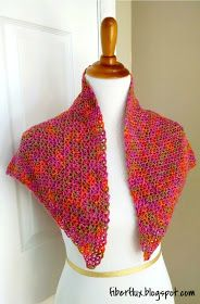 The Zinnia Flower Shawl is a breath of fresh sunshine, crocheted in bright and happy colors. This triangle shawl is worked in an all o...