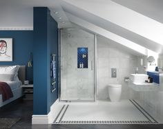 Increase en-suite bathrooms is the rising development as of late. The en-suite bathrooms may not be Loft Conversion Guide, Loft Conversion Design, Loft Conversion Bedroom, Dormer Loft Conversion, Loft Conversions, Bungalow Loft Conversion, Attic Conversion Balcony, Loft Conversion Dressing Room, Bathroom Cost
