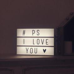 """┊#PSILOVEYOU ♡ || #home #deco #bedroom #love #lightbox #goodnight"""