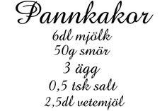 Väggord Pannkakor 55X68Cm - Trademax