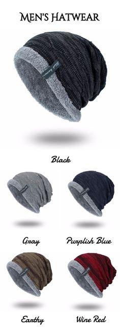 Knitting Velvet Lining Beanie Hat