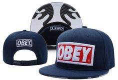 OBEY SNAPBACK HAT CAPS One size Fits Most Navy 261 Shops 320b518ca855