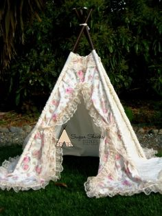 BEATRICE  teepee play tent photo prop by SugarShacksTeepee on Etsy, $170.00