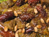 Moroccan Lamb or Beef Tagine with Dates