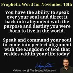 November 16 Daily Prophetic Word of God Online Church, The Kingdom Of God, Word Of God, Destiny, November, Words, November Born, Horse