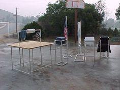 Portable PVC camping kitchen