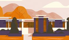 These illustrations are based on houses (and technically one office building) here in Salt Lake City. I have always loved the look of homes and buildings like these, and since I've been having fun drawing architecture lately, I thought I'd illustrate a fe…