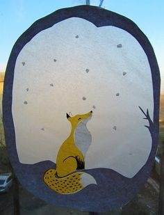 winter fox transparant