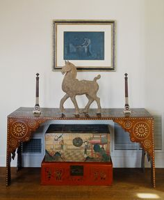 -Martyn Lawrence Bullard Designs painted chests and horse statues