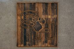 Handcrafted Reclaimed Wooden Sam Houston State University Logo by bodeche on Etsy https://www.etsy.com/listing/246817558/handcrafted-reclaimed-wooden-sam-houston