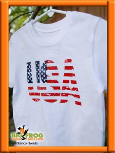d794465e USA custom t-shirt. Get your customized patriotic apparel from Big Frog in  Valrico