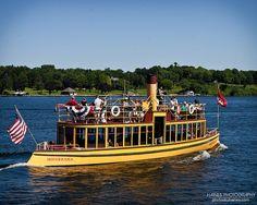 the Minnehaha steam boat on Lake Minnetonka
