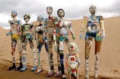 Seven Wasted Men, recycled sculptures by Michelle Reader