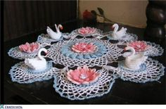crochet swan doilies