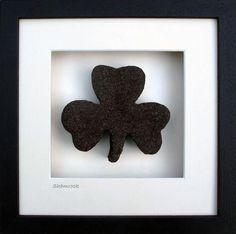 Large Shamrock Saint Patricks, St Patricks Day, Irish, Frame, Gifts, Decor, Picture Frame, Presents, Decorating