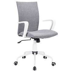Comfort Swivel Fabric Office and Home Task Chair With Adj...
