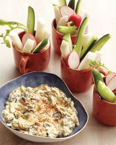 Caramelized-Poblano-Chile-and-Onion Dip, Recipe from Martha Stewart Living, August 2012