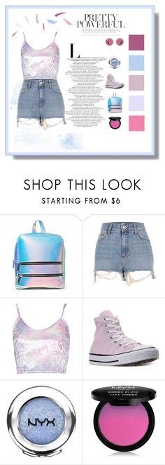 """Look of the day (01/08/17)"" by marock on Polyvore featuring Skinnydip, River Island, Converse, NYX and Ray-Ban"