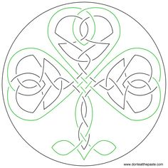 Free hand embroidery pattern - Shamrock by Don't Eat the Paste