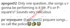 Update; Peter Okoye Says Ill Be Performing Psquare Songs So Call The Police